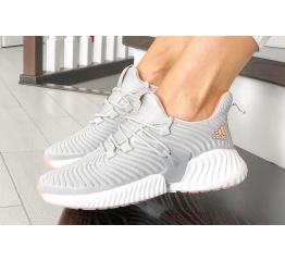 Купить Жіночі кросівки Adidas AlphaBOUNCE Instinct сірі з рожевим