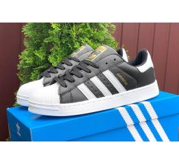 Купить Женские кроссовки Adidas Originals Superstar черные с белым