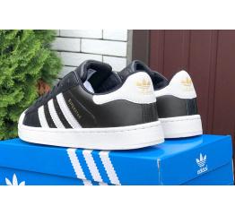 Купить Женские кроссовки Adidas Originals Superstar черные с белым в Украине