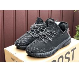 Купить Жіночі кросівки Adidas Yeezy Boost 350 V2 чорні в Украине