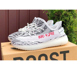 Купить Женские кроссовки Adidas Yeezy Boost 350 V2 SPLY-350 белые с черным