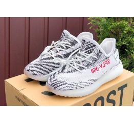 Купить Жіночі кросівки Adidas Yeezy Boost 350 V2 SPLY-350 білі з чорним в Украине