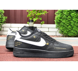 Купить Женские кроссовки Nike Air Force 1 Low 07 LE Starfish черные с белым в Украине
