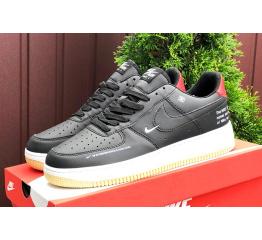 Купить Женские кроссовки Nike Air Force 1 Low 07 LE Starfish черные с белым и красным