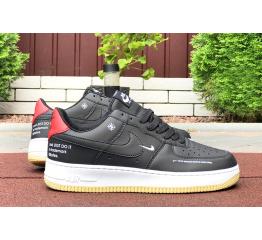 Купить Женские кроссовки Nike Air Force 1 Low 07 LE Starfish черные с белым и красным в Украине
