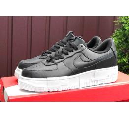 Купить Женские кроссовки Nike Air Force 1 Pixel черные с белым