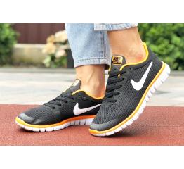 Купить Женские кроссовки Nike Free 3.0 V2 черные с оранжевым