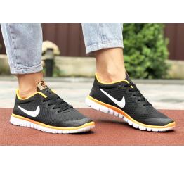 Купить Жіночі кросівки Nike Free 3.0 V2 чорні з помаранчевим в Украине