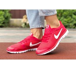 Купить Женские кроссовки Nike Free 3.0 V2 красные с белым