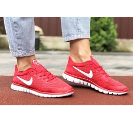 Купить Женские кроссовки Nike Free 3.0 V2 красные с белым в Украине