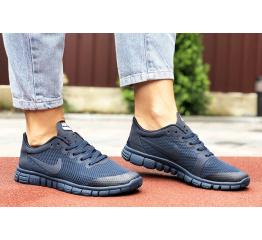 Купить Жіночі кросівки Nike Free 3.0 V2 темно-сині в Украине