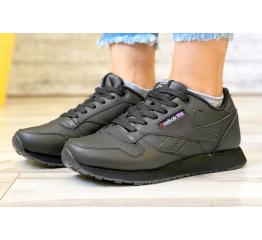 Купить Женские кроссовки Reebok Classic Leather черные (black)