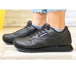 Купить Женские кроссовки Reebok Classic Leather черные (black) в Украине