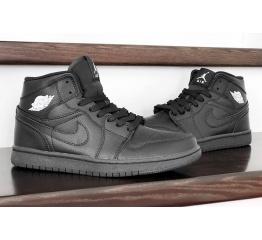 Купить Женские высокие кроссовки Nike Air Jordan 1 Retro High OG черные