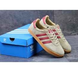 Купить Мужские кроссовки Adidas 350 бежевые с бордовым в Украине