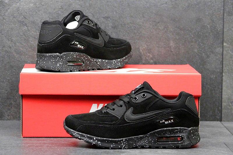3234c64b Nike (Найк) кроссовки Air Max 90 Suede черные купить | ASPOLO
