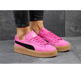 Купить Женские кроссовки Puma Creepers By Rihanna розовые с черным
