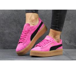 Купить Женские кроссовки Puma Creepers By Rihanna розовые с черным в Украине