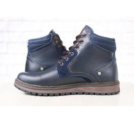 Мужские ботинки зимние темно-синие