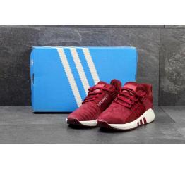 Купить Чоловічі кросівки Adidas Originals EQT Support 93/17 бордові в Украине