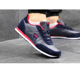 Купить Мужские кроссовки Fila Orazio Plus 2 темно-синие с красным и белым