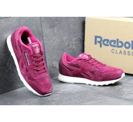 Купить Мужские кроссовки Reebok Classic Leather Crepe бордовые в Украине