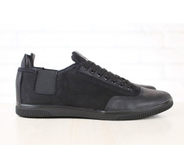 Купить Мужские туфли сникеры черные