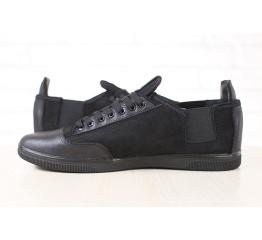 Купить Чоловічі туфлі снікери чорні в Украине