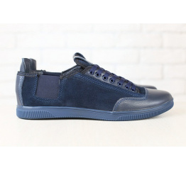 Купить Мужские туфли сникеры темно-синие