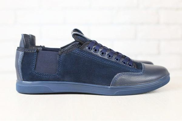 Чоловічі туфлі снікери темно-сині