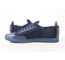 Купить Мужские туфли сникеры темно-синие в Украине