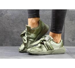 Купить Жіночі кросівки Puma Fenty by Rihanna x Bow оливковые