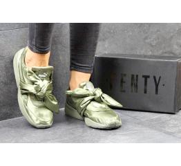 Купить Жіночі кросівки Puma Fenty by Rihanna x Bow оливковые в Украине