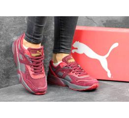 Купить Женские кроссовки Puma Trinomic R698 бордовые с серым в Украине