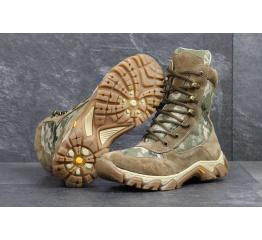 Мужские ботинки Military высокие бежевые