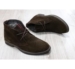 Мужские ботинки Tommy Hilfiger Suede Ankle Boot зимние коричневые