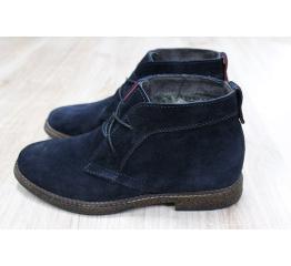Мужские ботинки Tommy Hilfiger Suede Ankle Boot зимние темно-синие