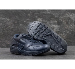 Купить Мужские высокие кроссовки Nike Air Huarache темно-синие в Украине