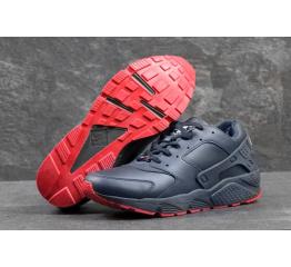 Купить Мужские высокие кроссовки Nike Air Huarache темно-синие с красные