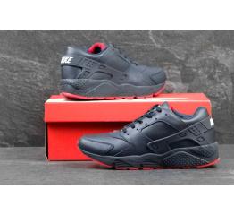 Купить Мужские высокие кроссовки Nike Air Huarache темно-синие с красные в Украине