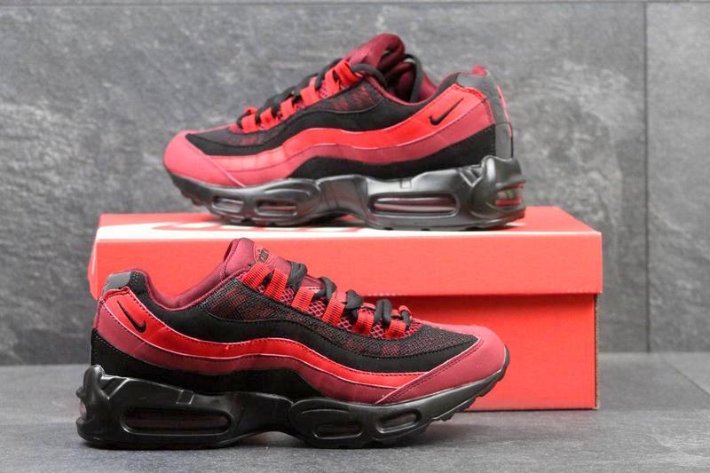 bfd835b3 Nike (Найк) кроссовки Air Max 95 красные с черным купить | ASPOLO