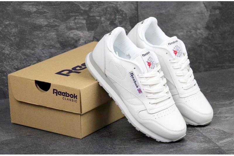 fb0b1c7e Reebok (Рибок) кроссовки Classic Leather белые купить | ASPOLO