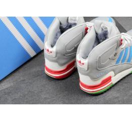Купить Чоловічі високі зимові кросівки Adidas ZX750 сірі в Украине