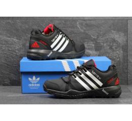 Купить Мужские высокие кроссовки Adidas Terrex Agravic Boost GTX черные с белым