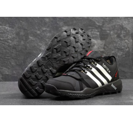 Купить Мужские высокие кроссовки Adidas Terrex Agravic Boost GTX черные с белым в Украине