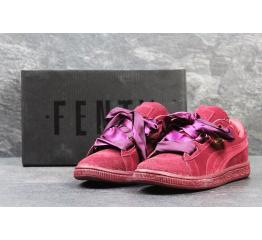 Купить Жіночі кросівки Puma Suede Heart Reset бордові в Украине