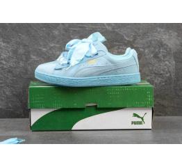 Купить Женские кроссовки Puma Suede Heart Reset голубые в Украине