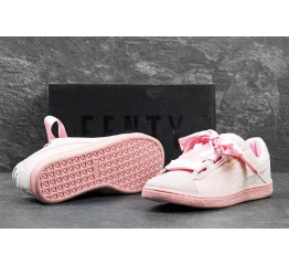Купить Женские кроссовки Puma Suede Heart Reset розовыые
