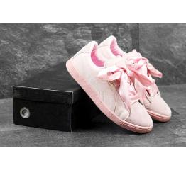 Купить Женские кроссовки Puma Suede Heart Reset розовыые в Украине