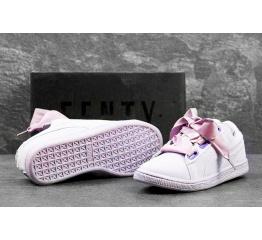 Купить Женские кроссовки Puma Suede Heart Reset сиреневые